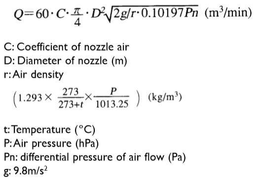 fan performance airflow equation