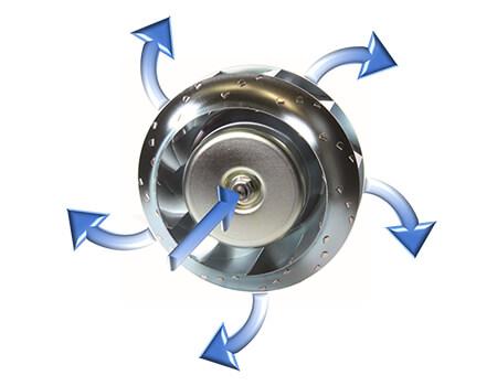 centrifugal fan airflow diagram